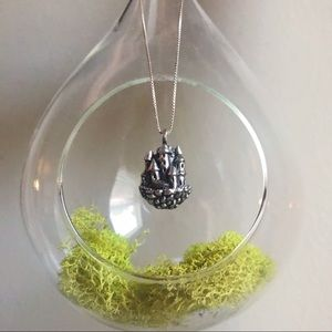 Jewelry - Pure Pewter Castle Necklace w/ sterling chain